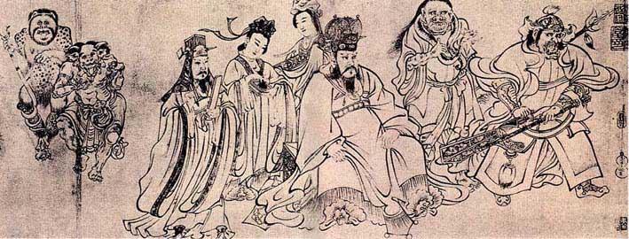 蜀文化手绘壁画